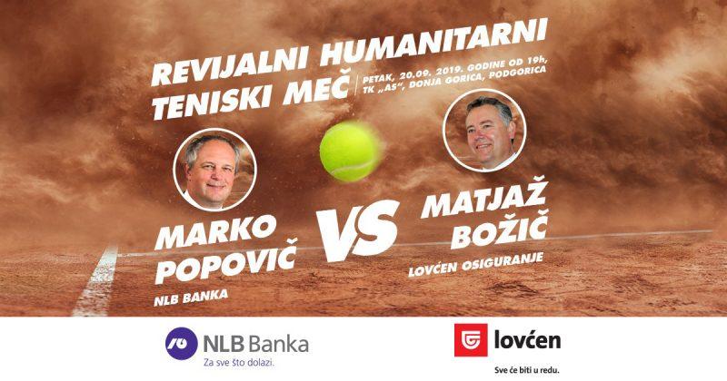 Revijalni humanitarni meč između predstavnika NLB Banke i Lovćen osiguranja
